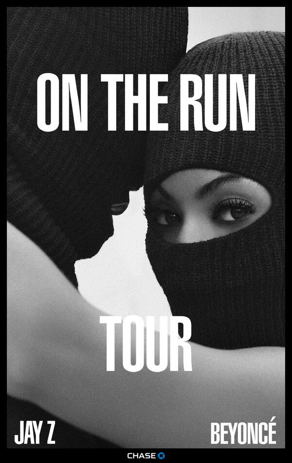 jay z beyonce on the run tour poster